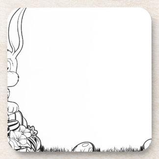 Ejemplo blanco y negro del conejito de pascua posavaso