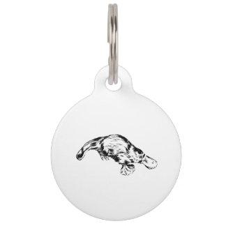 Ejemplo blanco y negro realista de Platypus Placas De Mascota