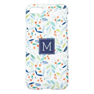 Ejemplo botánico colorido moderno de las acuarelas funda para iPhone 7
