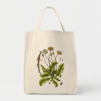 Ejemplo botánico del diente de león bolsas de mano