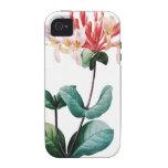 Ejemplo botánico del vintage de la madreselva Case-Mate iPhone 4 carcasa