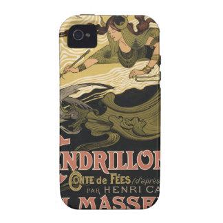 Ejemplo Cenicienta del cuento de hadas de Nouveau iPhone 4/4S Funda