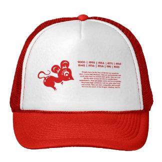Ejemplo chino de la rata de la astrología gorra