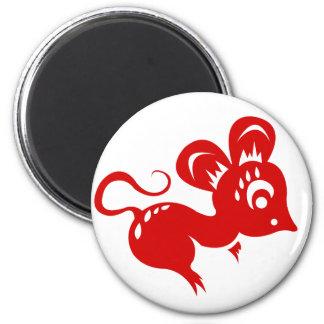 Ejemplo chino de la rata de la astrología imán redondo 5 cm