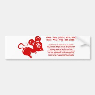 Ejemplo chino de la rata de la astrología pegatina para auto
