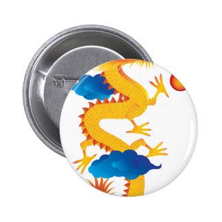 Ejemplo chino del dragón del Año Nuevo Pin Redondo 5 Cm