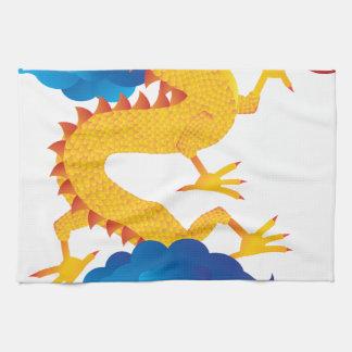 Ejemplo chino del dragón del Año Nuevo Toalla De Cocina