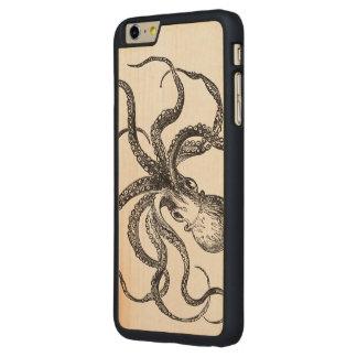 Ejemplo científico del animal de mar del pulpo del funda de arce carved® para iPhone 6 plus