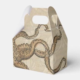 Ejemplo científico del vintage de Kraken del pulpo Caja Para Regalo De Boda
