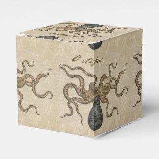 Ejemplo científico del vintage de Kraken del pulpo Cajas Para Detalles De Boda
