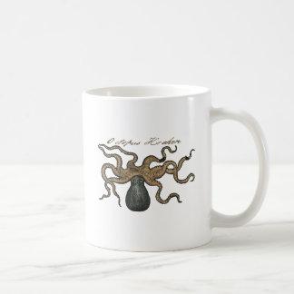 Ejemplo científico del vintage de Kraken del pulpo Tazas De Café