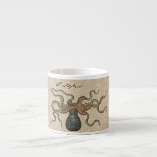 Ejemplo científico del vintage de Kraken del pulpo Taza Espresso