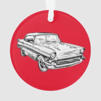 Ejemplo clásico 1957 del coche del Bel Air de