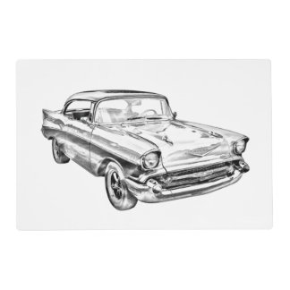 Ejemplo clásico 1957 del coche del Bel Air de Tapete Individual
