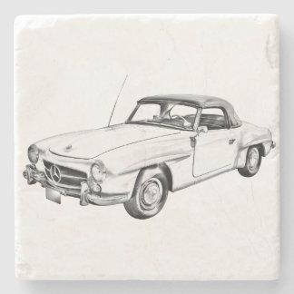 Ejemplo clásico del coche del sl del Benz 300 de Posavasos De Piedra