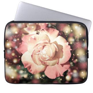 Ejemplo color de rosa rosado funda computadora