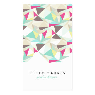 Ejemplo colorido abstracto del modelo del trullo tarjetas de visita