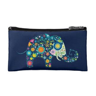 Ejemplo colorido del elefante de las flores