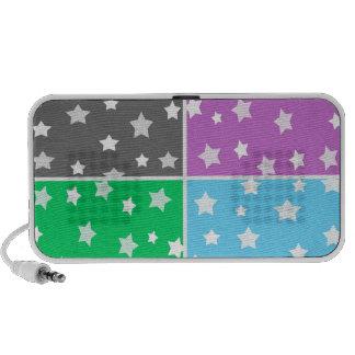 Ejemplo colorido del modelo de estrellas laptop altavoces