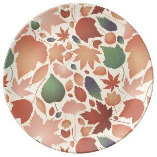 Ejemplo colorido del modelo de la licencia de platos de cerámica