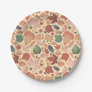 Ejemplo colorido del modelo de la licencia de platos de papel