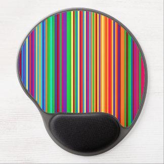 Ejemplo colorido del modelo de las rayas alfombrillas con gel