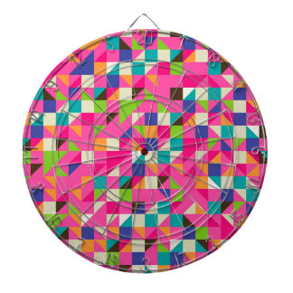 Ejemplo colorido del mosaico tablero de dardos
