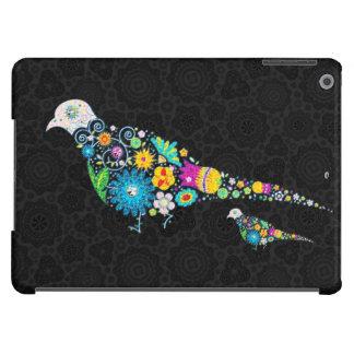 Ejemplo colorido del pájaro de las flores funda para iPad air