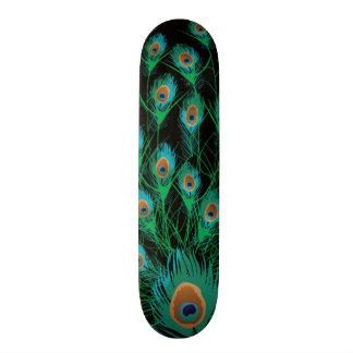Ejemplo con las plumas del pavo real en negro patines personalizados