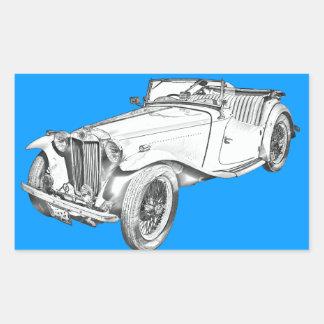 Ejemplo convertible del coche antiguo de MG Rectangular Altavoces