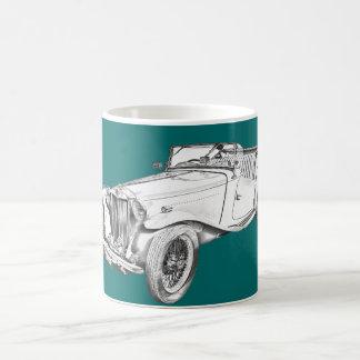 Ejemplo convertible del coche antiguo de MG Tazas De Café