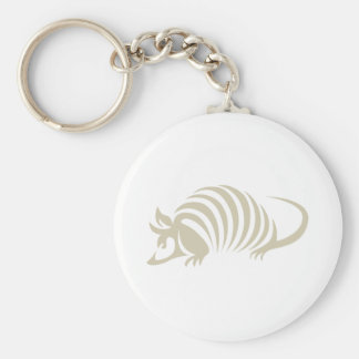 Ejemplo creativo del armadillo llavero redondo tipo pin