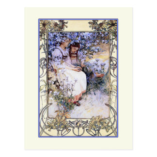 Ejemplo de Alfonso Mucha Las beatitudes Tarjetas Postales