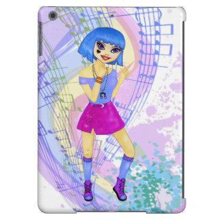 Ejemplo de baile de la moda con el pelo azul funda para iPad air