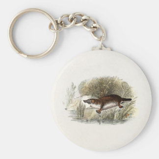 Ejemplo de Bill Platypus del pato de los 1800s del Llavero Personalizado