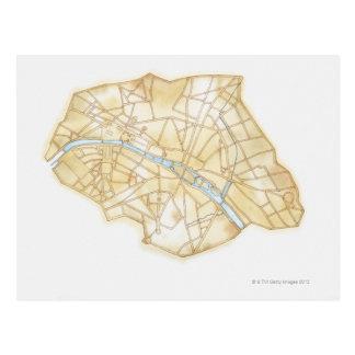 Ejemplo de calles de París durante 1789 Tarjetas Postales
