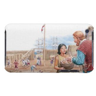 Ejemplo de capitán que visita Juan de Pocahontas Funda iPod