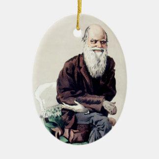Ejemplo de Charles Darwin Vanity Fair Adorno Navideño Ovalado De Cerámica