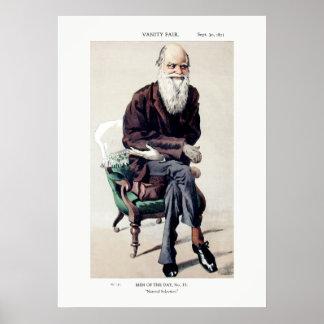 Ejemplo de Charles Darwin Vanity Fair Póster