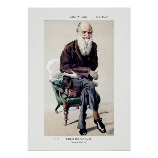 Ejemplo de Charles Darwin Vanity Fair Poster