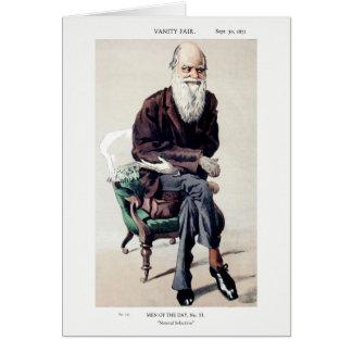Ejemplo de Charles Darwin Vanity Fair Tarjeta De Felicitación