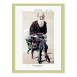 Ejemplo de Charles Darwin Vanity Fair Tarjetas Postales