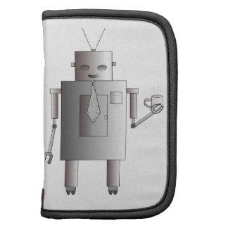 Ejemplo de consumición del café del robot retro organizadores