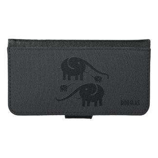 Ejemplo de cuero negro del elefante de la mirada