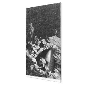 Ejemplo de 'de la tierra al Moon Impresión En Lona