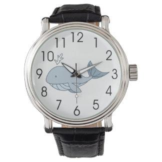 Ejemplo de Digitaces, ballena azul, animal del Relojes De Pulsera