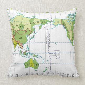 Ejemplo de Digitaces del mapa del mundo que muestr Almohada