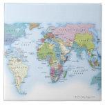 Ejemplo de Digitaces del mundo en 1900 Azulejo Cuadrado Grande