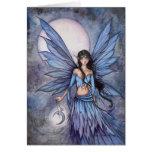 Ejemplo de hadas celestial del arte de la fantasía tarjeta de felicitación