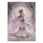 Ejemplo de hadas celestial púrpura del arte de la tarjeta de felicitación